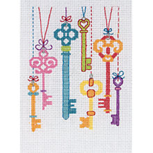 Buy Anchor New Home Keys Intermediate Cross Stitch Kit Online at johnlewis.com