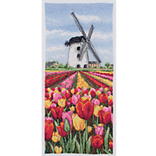 Buy Anchor Dutch Tulips Landscape Advanced Cross Stitch Kit Online at johnlewis.com