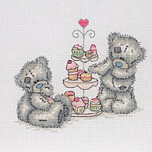 Buy Anchor Tatty Teddy Cupcakes Cross Stitch Kit Online at johnlewis.com