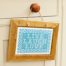 Buy The Historical Sampler Company Live, Laugh, Love Cross Stitch Kit Online at johnlewis.com
