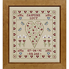 Buy The Historical Sampler Company Butterfly Birth Sampler Cross Stitch Kit Online at johnlewis.com