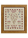 The Historical Sampler Company Butterfly Birth Sampler Cross Stitch Kit