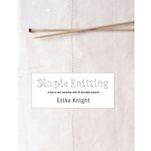 Buy Simple Knitting Book Online at johnlewis.com