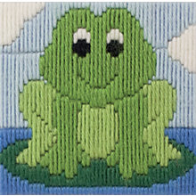 Buy Anchor 1st Friendly Frog Long Stitch Kit Online at johnlewis.com