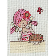 Buy Anchor Emily Button's Birthday Intermediate Cross Stitch Kit Online at johnlewis.com
