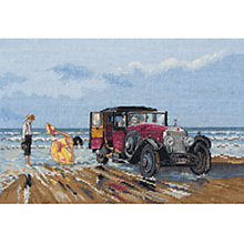 Buy Anchor Vintage Rolls on the Beach Cross Stitch Kit Online at johnlewis.com