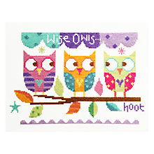 Buy Wise Owls Cross Stitch Kit Online at johnlewis.com