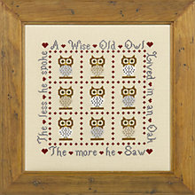 Buy The Historical Sampler Company Wise Old Owl Cross Stitch Kit Online at johnlewis.com