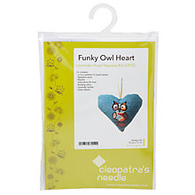 Buy Cleopatra's Funky Owl Heart Tapestry Kit Online at johnlewis.com