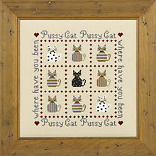 Buy The Historical Sampler Company Pussy Cat Cross Stitch Kit Online at johnlewis.com