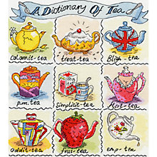 Buy Dictionary of Tea Cross Stitch Kit Online at johnlewis.com