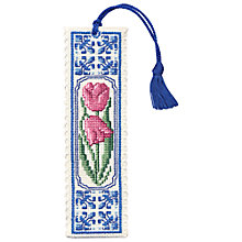 Buy Art Pewter Delft Tulips Bookmark Cross Stitch Kit Online at johnlewis.com