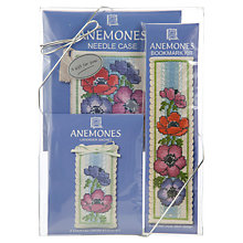 Buy Anemones Victorian Lavender Cross Stitch Kit Gift Pack Online at johnlewis.com