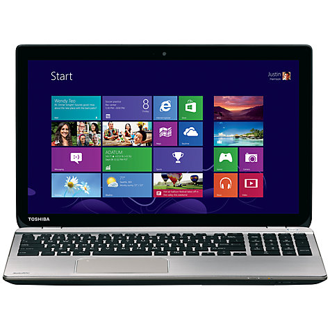 "Buy Toshiba Satellite P50t-B-10K Laptop, Intel Core i7, 8GB RAM, 1TB, Blu-ray, 15.6"" 4K Ultra HD Touch Screen, Silver Online at johnlewis.com"