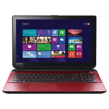 "Buy Toshiba Satellite L50-B-1DV Laptop, Intel Core i5, 8GB RAM, 1TB, 15.6"", Red Online at johnlewis.com"