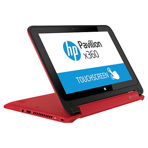 "Buy HP Pavilion x360 11-n000ea Convertible Laptop, Intel Celeron, 4GB RAM, 500GB, 11.6"" Touch Screen Online at johnlewis.com"