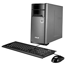 Buy Asus M32AA Desktop PC, Intel Core i3, 4GB RAM, 500GB, Grey & Black + Norton 360 Online at johnlewis.com