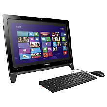 "Buy Lenovo IdeaCentre B350 All-in-One Desktop PC, Intel Core i5, 6GB RAM, 1TB, 21.5"" Touch Screen, Black Online at johnlewis.com"