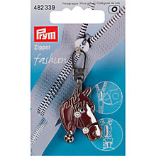 Buy Prym Fashion Zip Puller, Horse's Head Online at johnlewis.com
