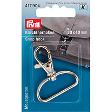 Buy Prym Snap Hook, 30 x 40mm, Silver Online at johnlewis.com