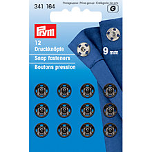Buy Prym Sew-on Snap Fasteners, 9mm, Pack of 12, Black Online at johnlewis.com