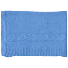 Buy Olivier Baby Cashmere Baby Blanket, Bright Blue Online at johnlewis.com