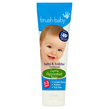 Buy Brushbaby Baby and Toddler Toothpaste, Applemint Online at johnlewis.com