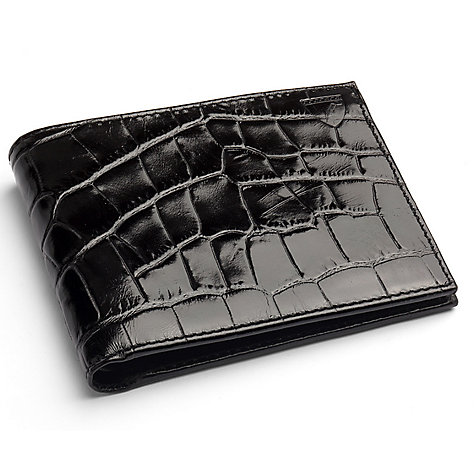 Buy Aspinal of London Billfold Wallet, Black Croc Online at johnlewis.com