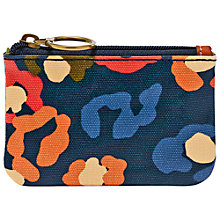 Buy Fossil Key-Per Zip Coin Leather Purse, Turquoise Online at johnlewis.com