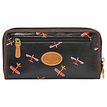 Buy Fossil Key-per Zip Clutch Purse, Black Online at johnlewis.com