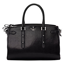 Buy Aspinal of London Brook Street Bag, Black Lizard Online at johnlewis.com