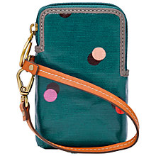 Buy Fossil Key-Per Carry All Leather Pouch, Peacock Online at johnlewis.com