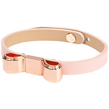 Buy Ted Baker Beccee Bow Bracelet, Pink Online at johnlewis.com