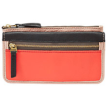 Buy Fossil Erin Leather Flap Clutch Purse, Pink Online at johnlewis.com