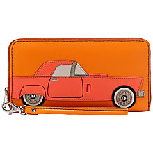 Buy Fossil Sydney Leather Zip Clutch Purse, Orange Online at johnlewis.com