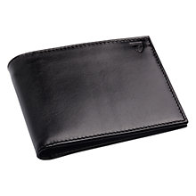 Buy Aspinal of London Large ID Wallet, Smooth Black & Cobalt Blue Suede Online at johnlewis.com