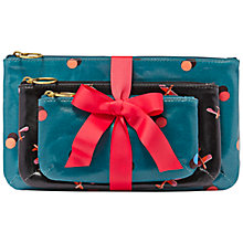 Buy Fossil Keyper Triple Pouch Leather Purse, Peacock Online at johnlewis.com