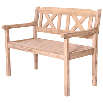 LG Outdoor Hanoi 2-Seat Crossback Bench, FSC-certified (Acacia)