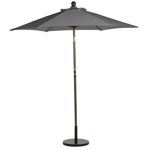 Buy Leisuregrow Tilting Round Parasol, Graphite, 2.2m Online at johnlewis.com