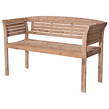 Buy Leisuregrow Outdoor Hanoi 2-Seater Bistro Bench, Natural Online at johnlewis.com