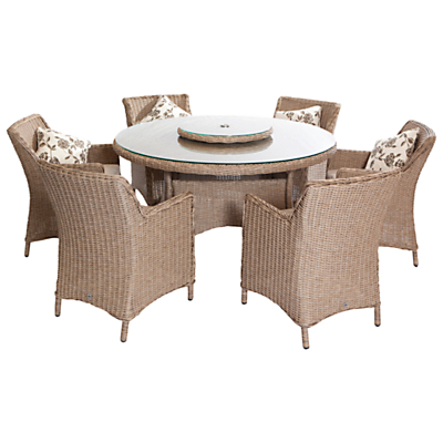 Leisuregrow Saigon Heritage Weave 6-Seater Dining Set