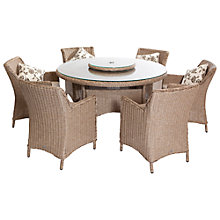 Buy LG Outdoor Saigon Heritage Weave 6-Seater Dining Set Online at johnlewis.com