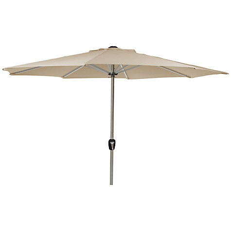 Buy Leisuregrow Round Parasol with Crank, Beige, 3m Online at johnlewis.com