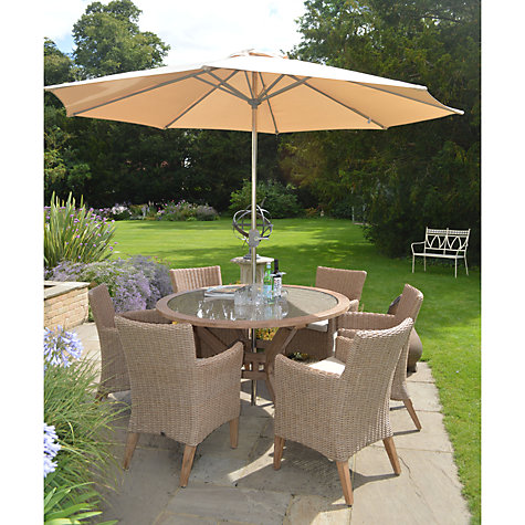 Buy LG Outdoor Round Parasol with Crank, Beige, 3m Online at johnlewis.com