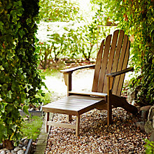Buy Saigon Adirondack Chair with Footrest, Natural Online at johnlewis.com