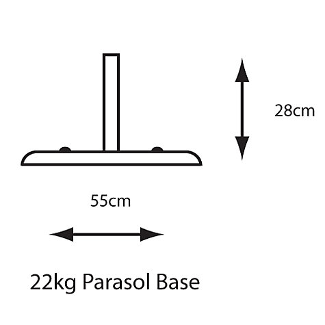 Buy LG Outdoor Concrete Parasol Base, 22kg Online at johnlewis.com