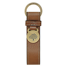 Buy Mulberry Leather Plaque Keyring, Oak Online at johnlewis.com