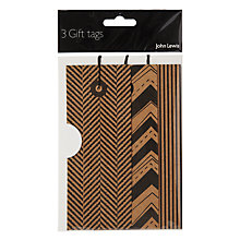 Buy John Lewis Kraft Copenhagen Gift Tags, Set of 3 Online at johnlewis.com