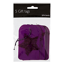 Buy John Lewis Mesh Star Gift Tags, Purple, Pack of 5 Online at johnlewis.com