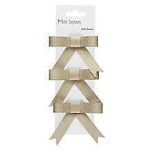 Buy John Lewis Flitter Ribbon Mini Bows,  Pack of 3 Online at johnlewis.com